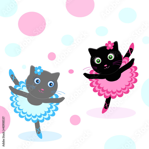 Photo sur Toile Chats ballet-dancers