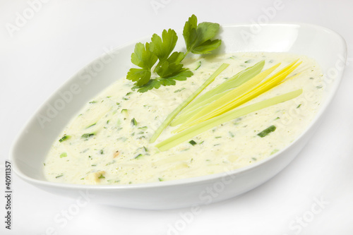 Recess Fitting Appetizer Cremesuppe ala Zucchini © Herby Meseritsch