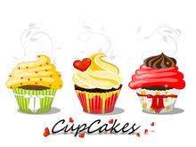 Cupcakes, Muffin Illustration ...
