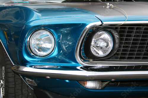 In de dag Vintage cars Oldtimer Auto Front