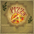 Pizza on grunge Background