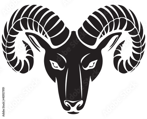 head of the ram Wallpaper Mural