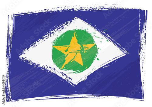 Fotografija  Brazilian state Mato Grosso flag
