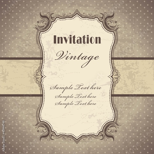 Photo sur Toile Affiche vintage Vintage frame template (3)