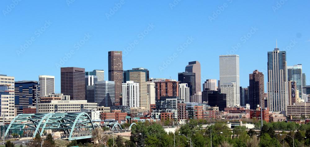 Fototapeta Denver City Skyline