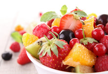 Isolated Fruit Salad
