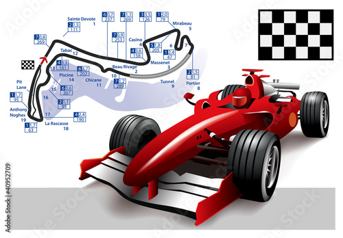 Door stickers F1 Poster Monaco Formula 1 Grand Prix