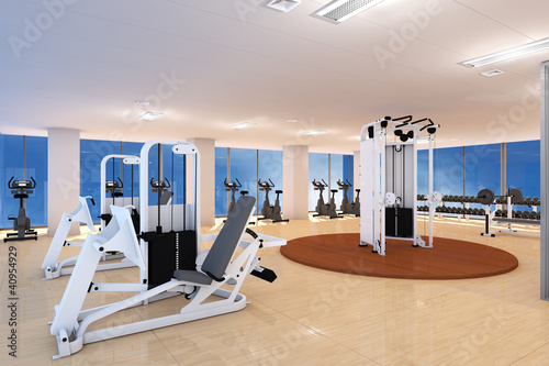 Fotografie, Obraz  Leeres Fitnesscenter