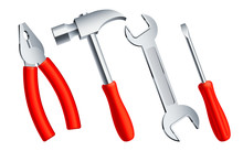 Set Of 4 Construction Tools Wi...