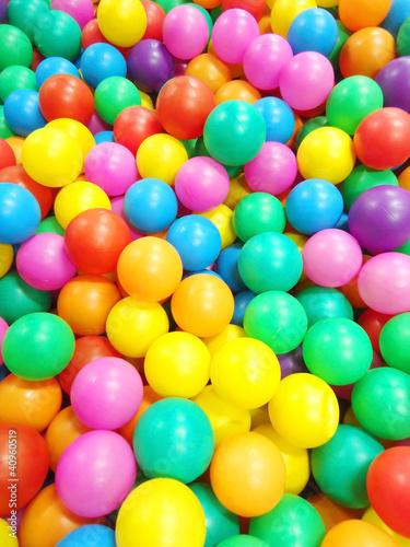 Poster Confiserie Colorful plastic balls
