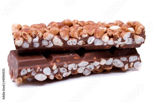 Plakaty o nałogach bliska-czekolady-z-dmuchanego-paska-ryzowego-na-bialym-tle