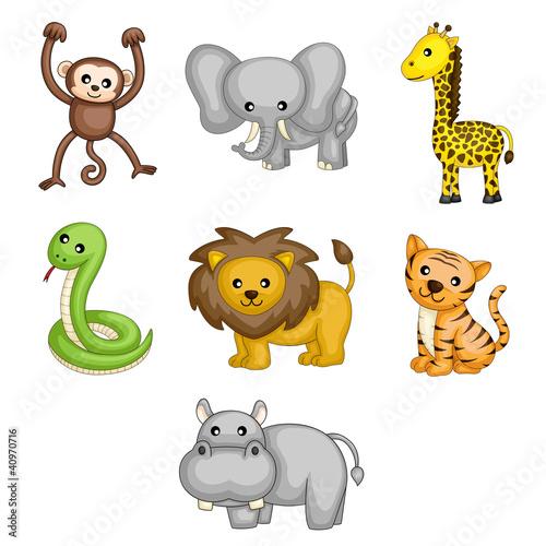 cartoon-dzikich-zwierzat