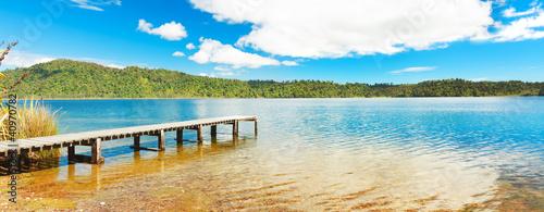 Fotobehang Pier Panorama lake