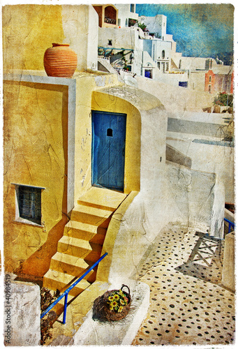 colors of Santorini -artistic picture - 40984519