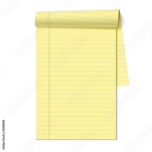Photo Blank legal pad