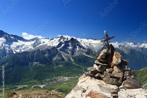 Fotografie, Obraz  Tonale pass and Presena mount