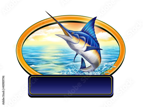 Printed kitchen splashbacks Fishing Fishing label