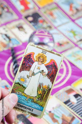 Temperance, Tarot card, Major Arcana - Buy this stock photo