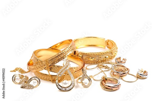 fototapeta na szkło Złota biżuteria