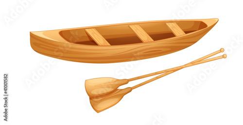 Valokuvatapetti Canoe on white