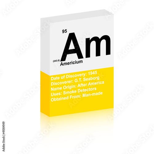 Photo americium symbol