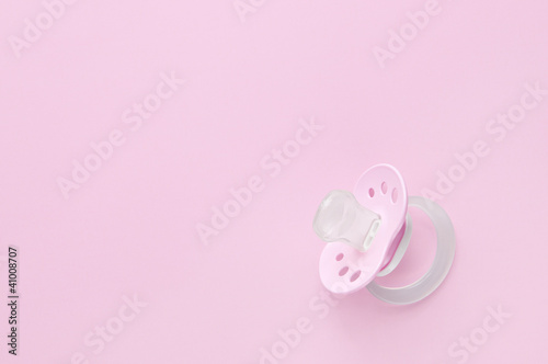 Baby soother in pink Canvas-taulu