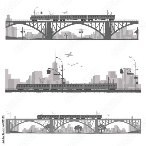 rowniez-zwrocic-corel-ilustracji-wektora-pociag-na-moscie-miasto-glabika-sylwetka