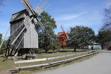 Two Old Windmill In Stockholm,...