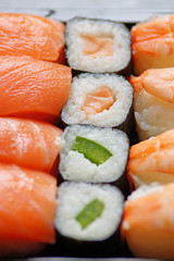 Panel Szklany Do restauracji sushi sortiment #3