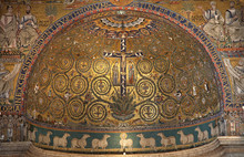 Rome - Mosaic Of Jesus On The ...