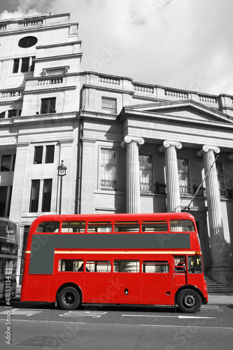Poster Londres bus rouge London Route Master Bus