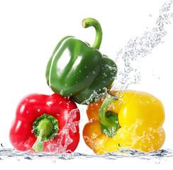 Panel Szklany Przyprawy peperoni splash