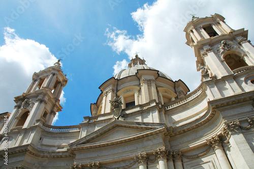 Fotografie, Obraz  Chiesa principale di Piazza Navona, Roma, Italia