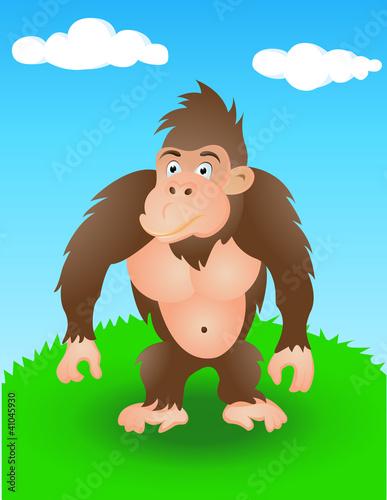 Poster de jardin Zoo gorilla in the wild