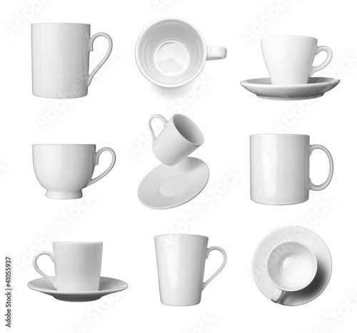Fototapeta white coffee cup beverage drink food obraz