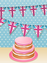 Bunting And Cake