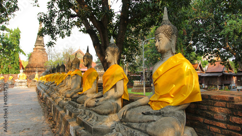 Ancient Buddha, Ayutthaya, Thailand.