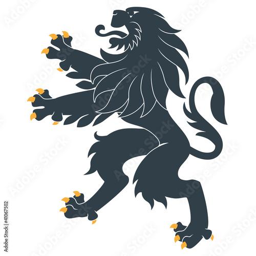 Standing Heraldic Lion Canvas Print