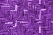 Purple Bamboo Wicker Wall