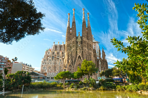 La Sagrada Familia, Barcelona, spain. Canvas Print