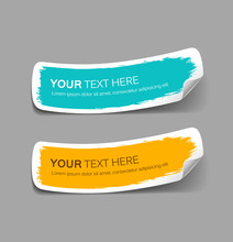 Colorful Label Paper Brush Str...