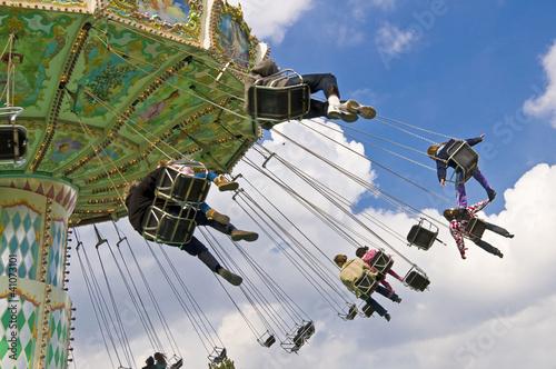 Fotografía  Chaises volantes au jardin d'acclimatation - Paris