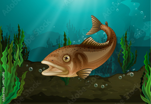 Poster Submarine Fish underwater