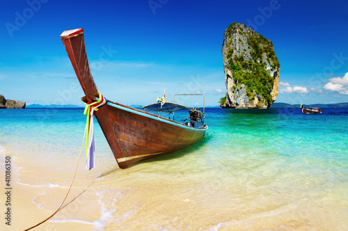 Foto-Leinwand - Tropical beach, Andaman Sea, Thailand
