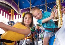 Kids Having Fun On A Carnival ...