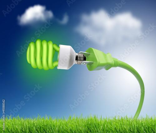Plakaty ekologiczne zielona-wtyczka-z-zielona-zarowka-eco-concept