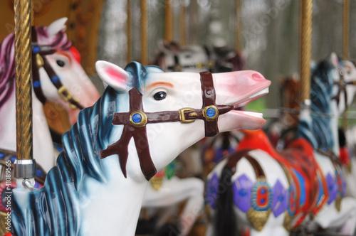 Keuken foto achterwand Verenigde Staten carousel horses