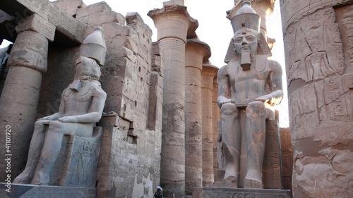 In de dag Egypte Templo de Luxor, Egipto