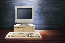 Dramatic Lighting Image Of An Old, Vintage Workspace
