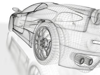 Sports car model